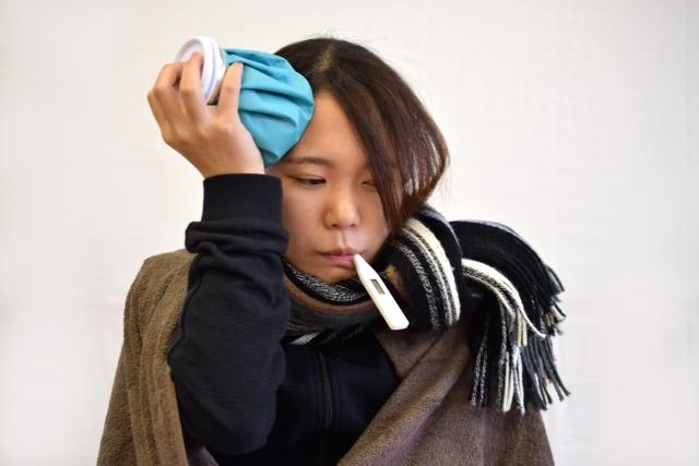 インフルエンザの女性